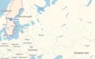 Карта швеции швеция на карте мира