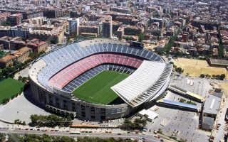 Стадион камп ноу на карте