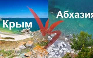 Что выбрать крым краснодарский край или абхазия