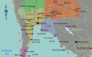 Карта таиланда таиланд на карте мира