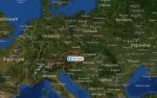 Карта австрии австрия на карте мира