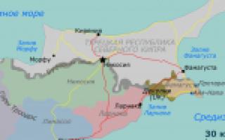 Карта кипра кипр на карте мира