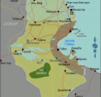 Тунис на карте африки карта туниса с городами