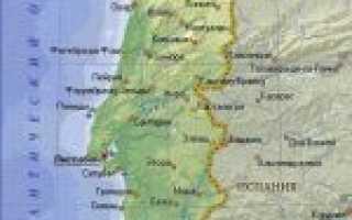 Карта португалии португалия на карте мира