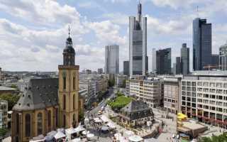 Особенности отдыха во франкфурте на майне