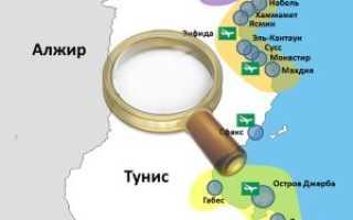 Карта хаммамета хаммамет на карте мира