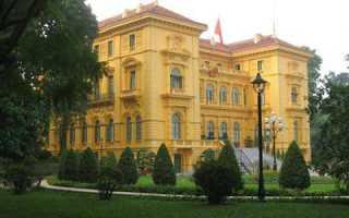 Мавзолей и дом резиденция хо ши мина вьетнам ханой