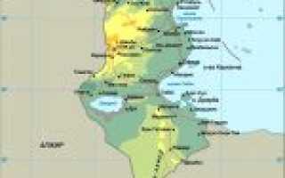 Карта туниса тунис на карте мира