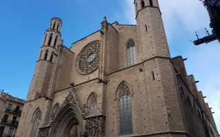 Церковь санта мария дель мар на карте
