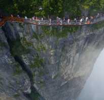 Самые популярные стеклянные мосты и смотровые площадки китая
